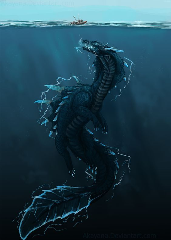 Exactly how I imagine Lysandra to be in her Sea-Dragon form - Empire of Storms
