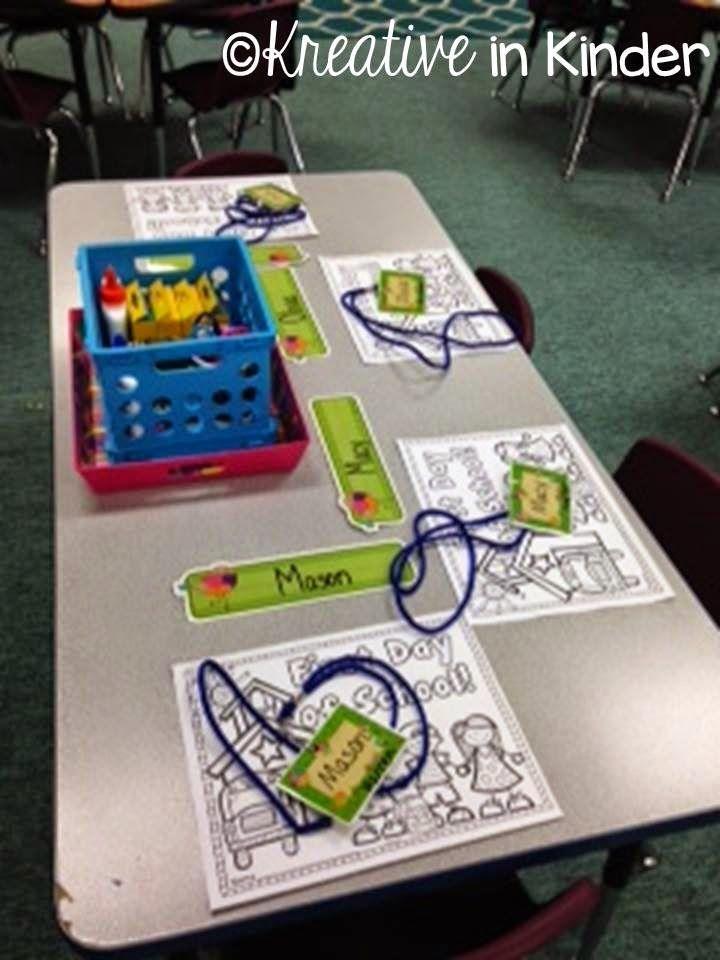Meet the teacher night setup for Kindergarten!