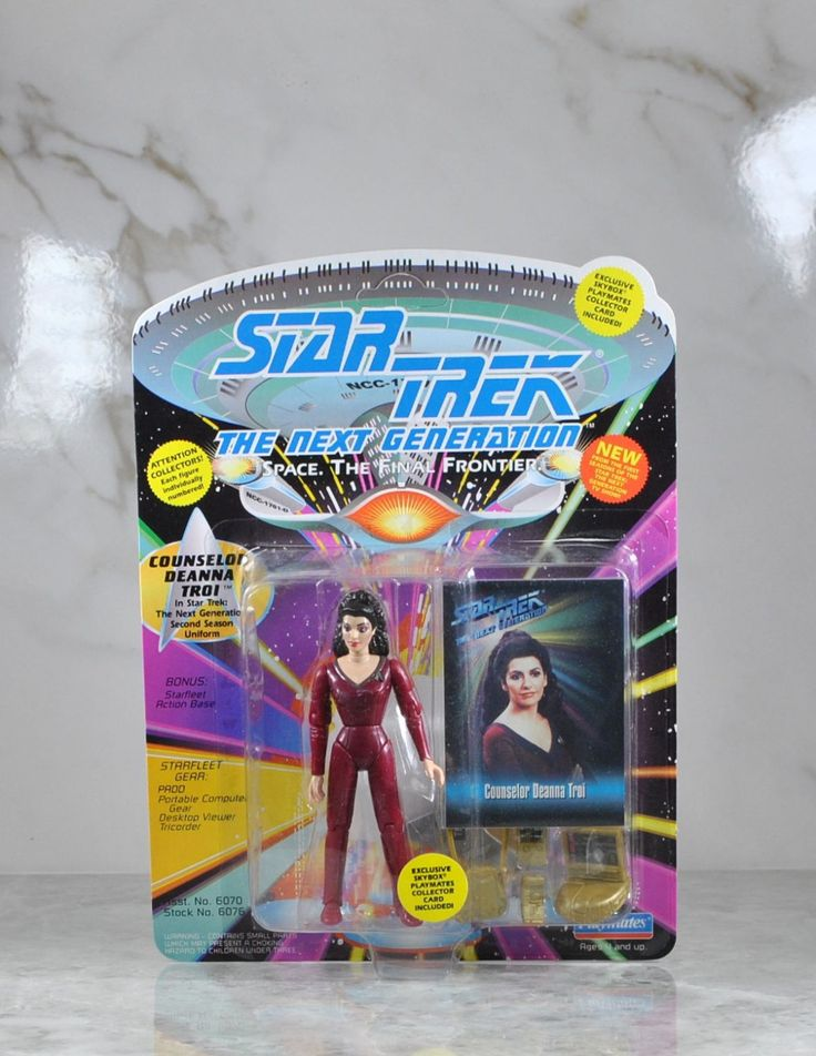 Vintage Playmates Star Trek The Next Generation Action Figure 1993 Counselor Deanna Troi Skybox Playmates Collector Card, Second Season by winterparkcollect on Etsy