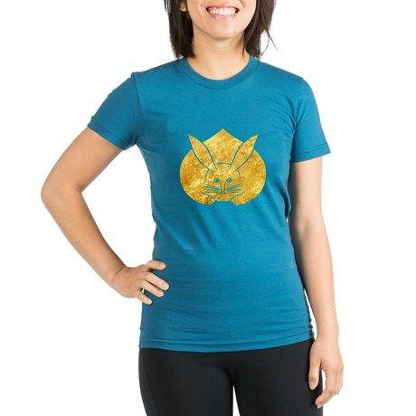 Usagi kamon japanese rabbit gold T-Shirt on CafePress.com