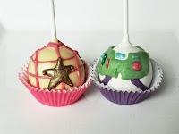 woody and buzz light year cake pops