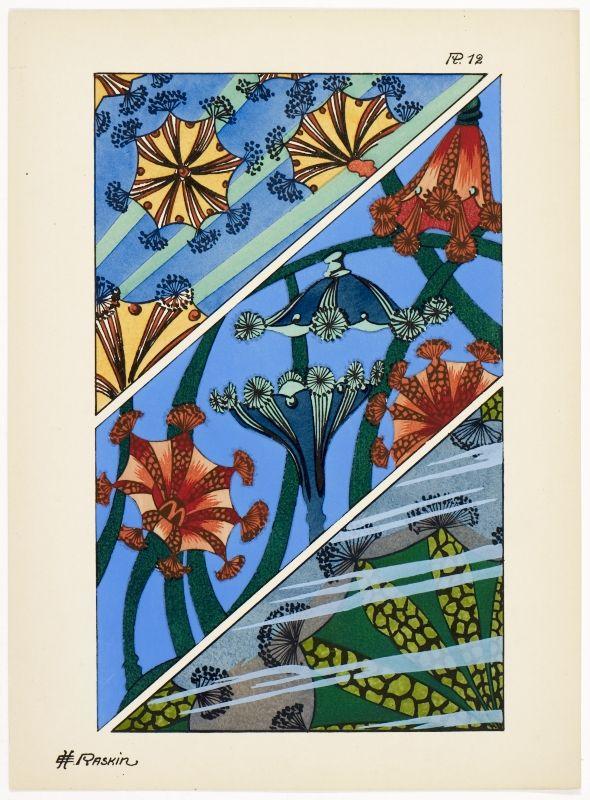 Art deco patterns from Oceanic Fantasies, by E H Raskin, 1926.