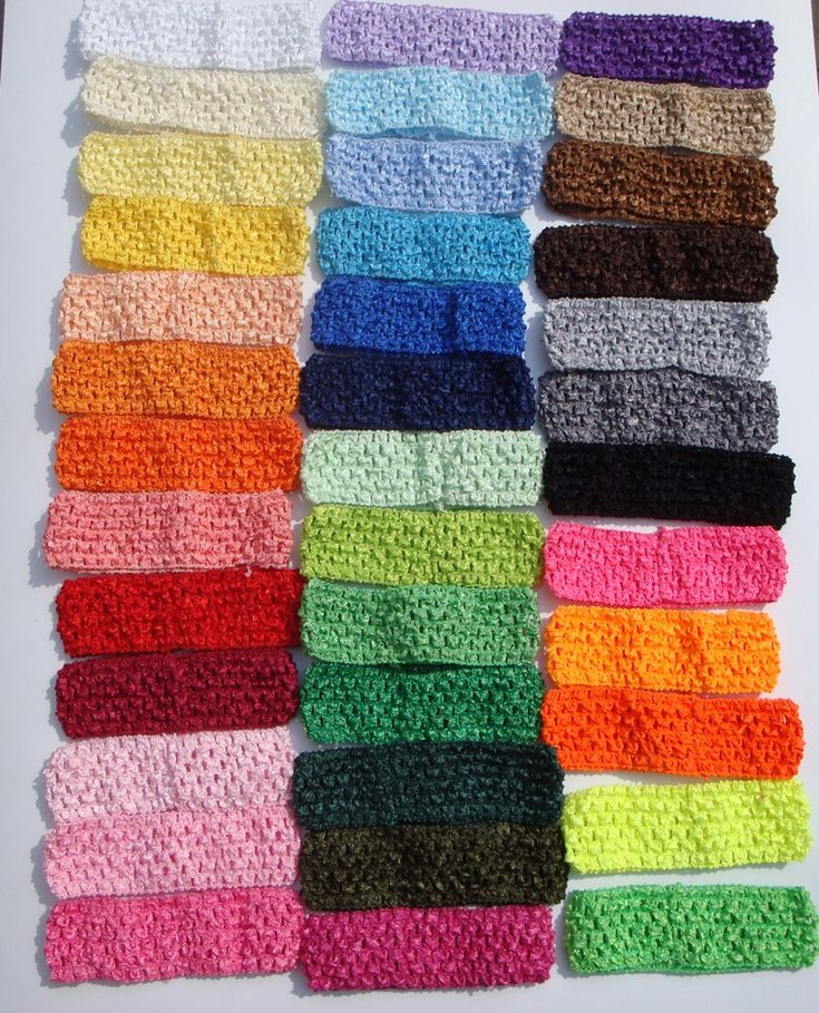 "38Color Free Shipping Wholesale 50pcs/lot Hi-Quality 1.5"" Newborn Infant baby girl Top TuTu crochet headband"
