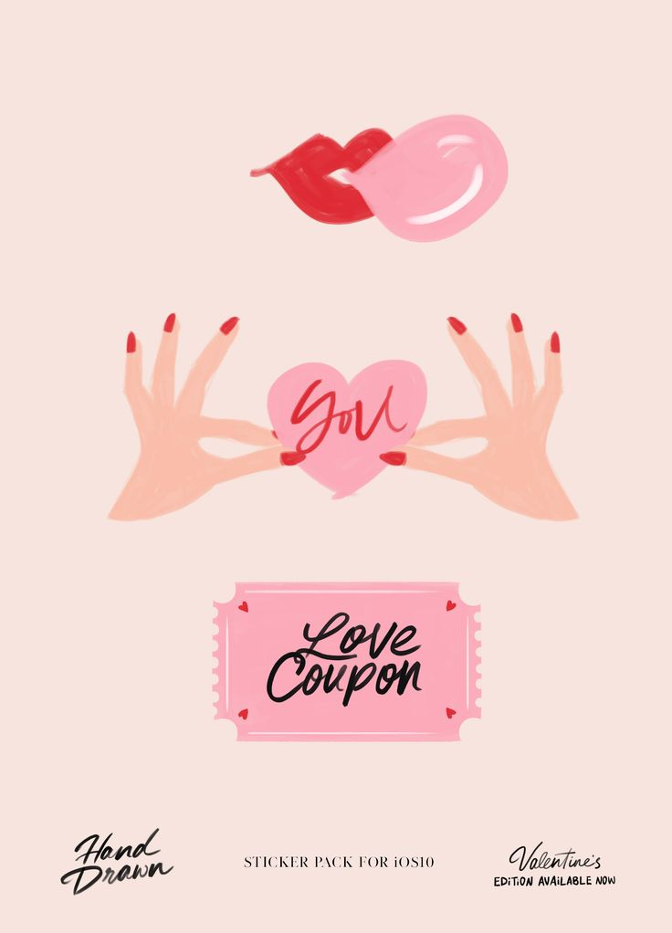 Hand Drawn Sticker Pack by Cocorrina   for iOS10, Valentine's Edition available now