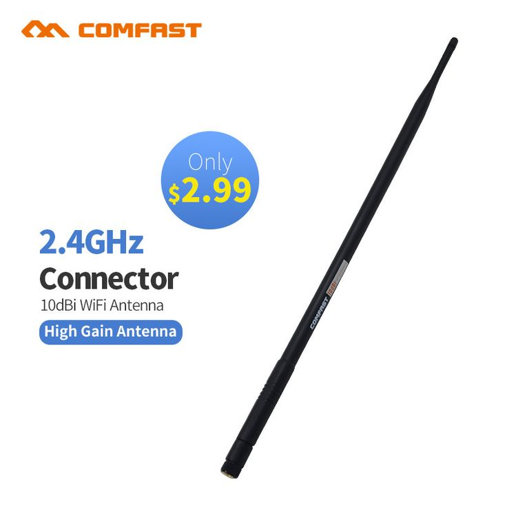 RP-SMA WIFI Antennas 2.4GHz 10dBi Wireless Booster WLAN Antenna For USB Modem Router PCI Comfast CF-ANT2410I