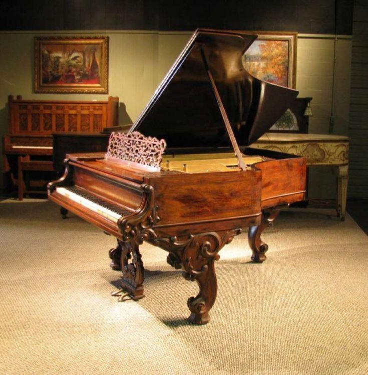 Knabe Victorian Parlor Grand Piano – Antique Piano Shop