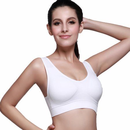 a269ab9bde Women Bralette Workout Padded No Bounce Full Support Sport Bra ECLNK   womanworkout