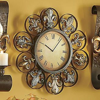 Grand Time Fleur De Lis Wall Clock From Seventh Avenue Pinterest And