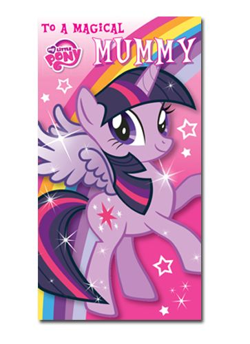 Official My Little Pony Mummy Mother's Day Card now available with Free 1st Class UK Postage from Publishers Danilo.com at http://bit.ly/MotherDayCardsWrap