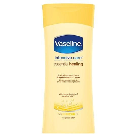 For a lotion that moisturises to heal very dry skin, leaving it looking and feeling healthier: Vaseline Intensive Care Essential Healing Body Lotion 400ml #skin #skincare #beauty