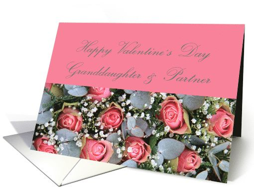 Granddaughter Partner Happy Valentines Day Eucalyptuspink – Granddaughter Valentine Card