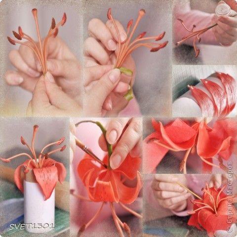 Мастер-класс Лепка: Все покрасочные работы по лилии Фарфор холодный. Фото 5
