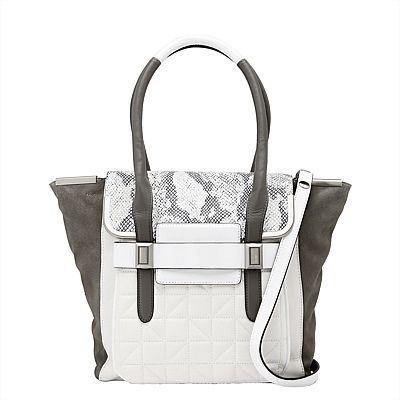 #mimcomuse matchmaker tote incorporates a mixture of striking tones and textures and will be the center-point of any ensemble