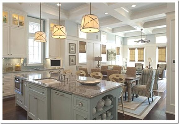 love the counters and the blue island