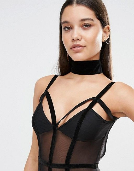 Missguided | Missguided – Enges Halsband aus Samt