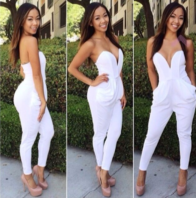 Best 25 All White Jumpsuit Ideas On Pinterest Classy