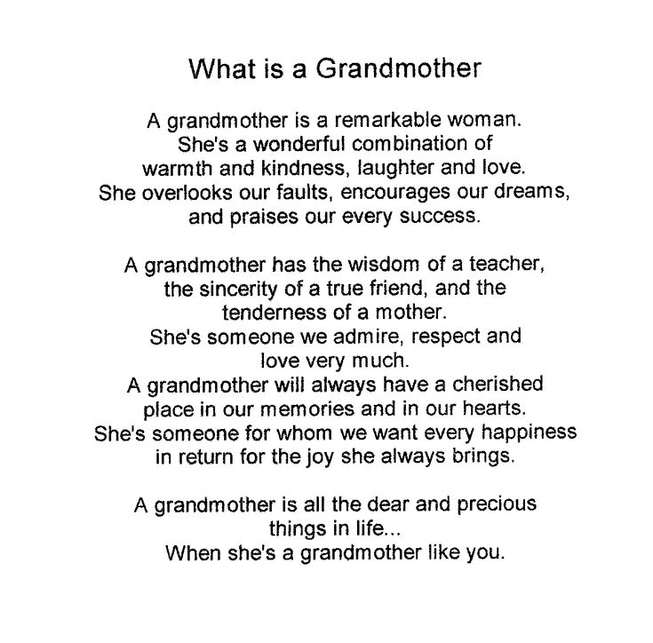grandma poems | Grandmothers' Day - ESL Resources