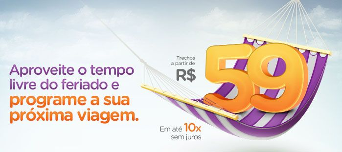 GOL faz promoção relâmpago com passagens aéreas a partir de R$59! Voos nacionais e internacionais mais baratos.