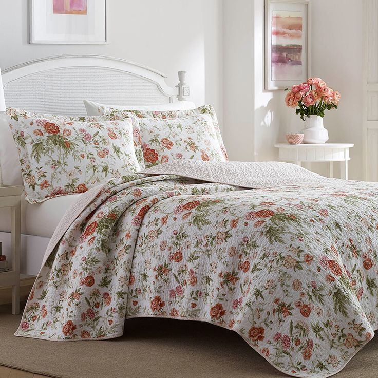 78 Best Images About Laura Ashley Bedding On Pinterest Comforters Bed Quilt And White Quilts