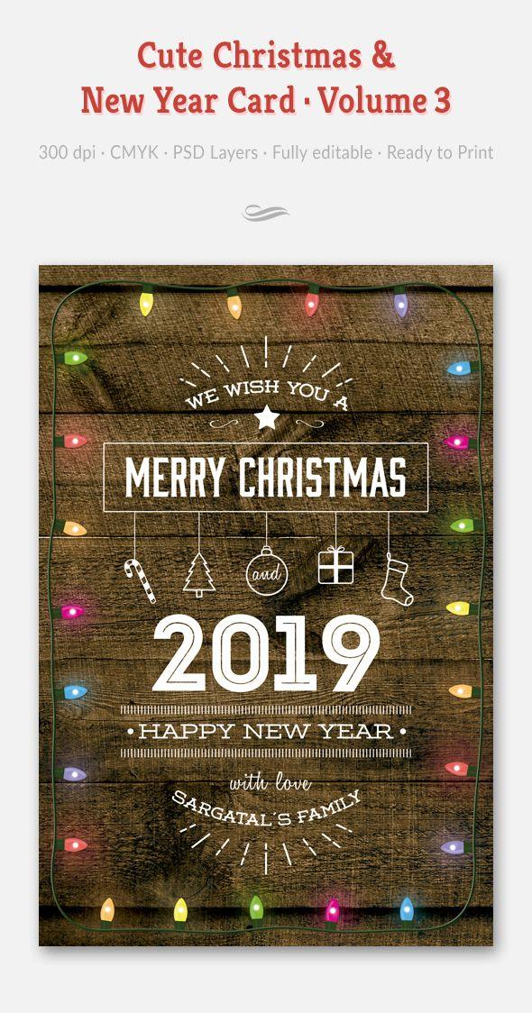 Cute Christmas And New Year Card Volume 03 Disenos De Unas