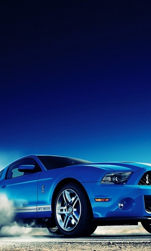 Ford Mustang Shelby GT500 #car #blue #ford