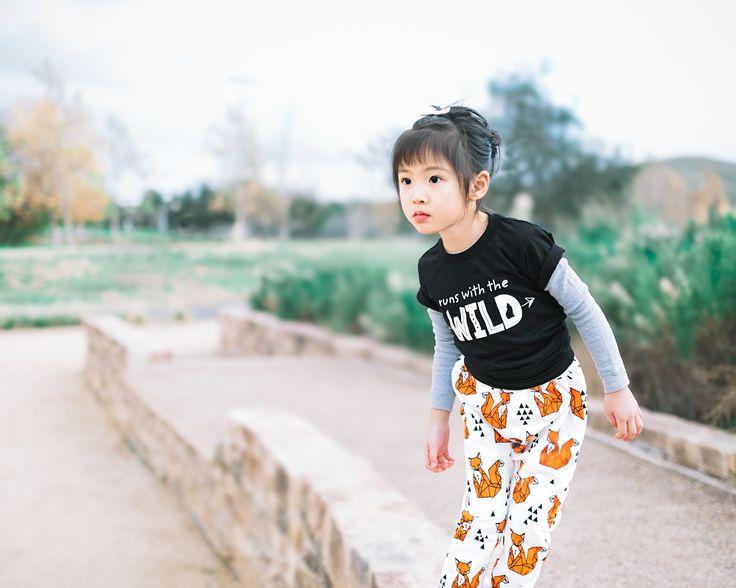 """Runs with the Wild"" toddler organic cotton t-shirt. wolfpupthreads.com"