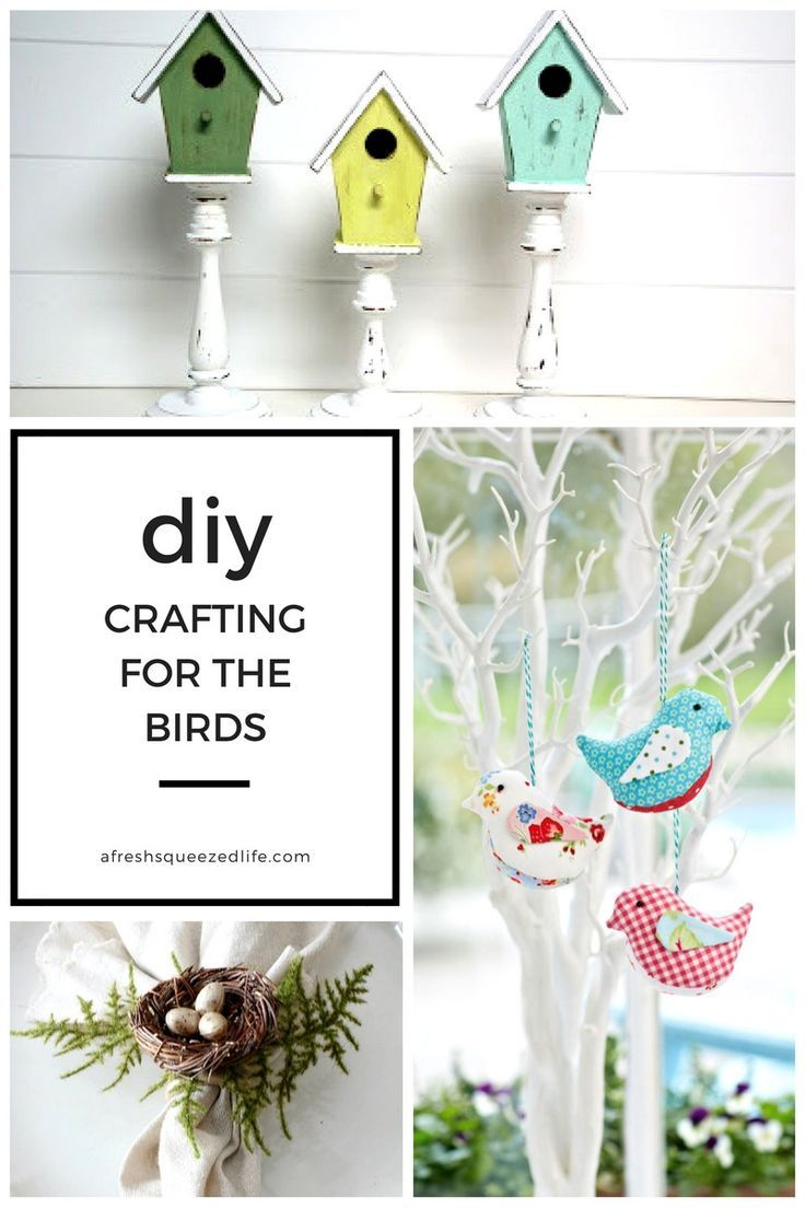 Spring means the birds are back in town singing their happy songs! This means it's time for bird crafts! Here are some DIY projects from around the web.