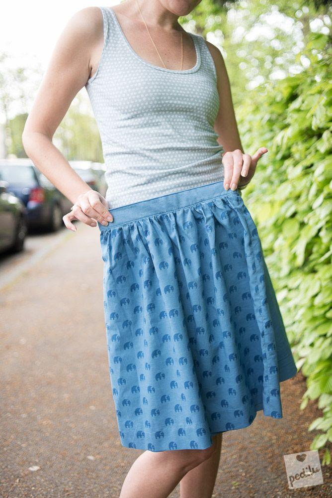 Paris Skirt: Uni oder Elefanten. Hauptsache Blau