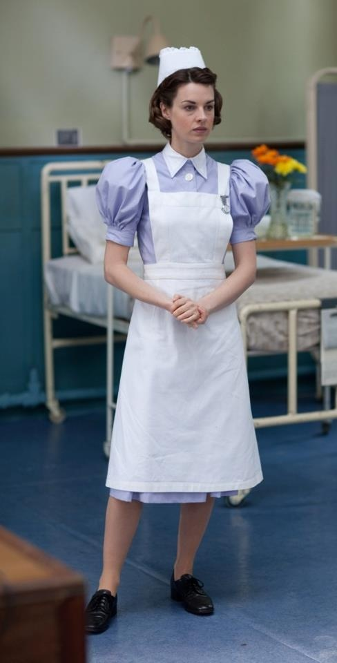 In Episode 3 of series 2, we will see Jenny Lee seconded to the short-staffed London Hospital, where she spends some time on a Male Surgical ward. Photo from Call the Midwife on facebook