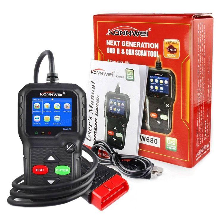 KONNWEI KW680 Code Reader Universal Car Diagnostic Scanner Tool Full OBDII EOBD Functions