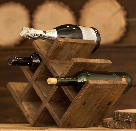 Mini Cavas De Vinos Unicas Y Con Estilo Rustic Vintage Estantes De Vino Estante Para Botellas De Vino Cavas De Madera