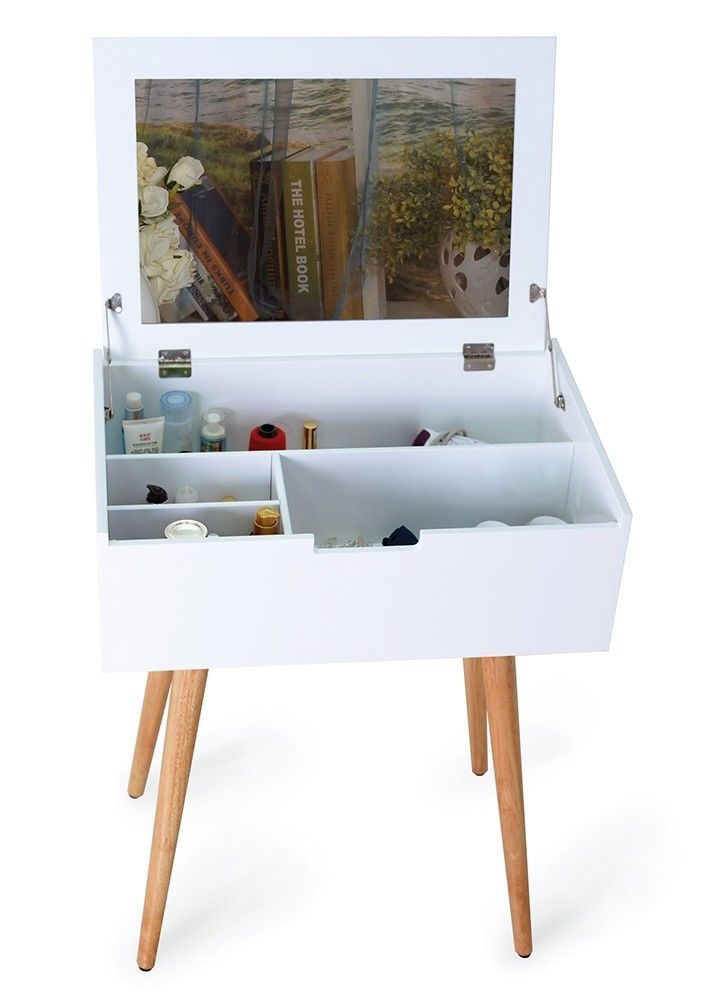huge discount 17403 73a8b Dressing Table with Mirror White Compartments Make Up ...