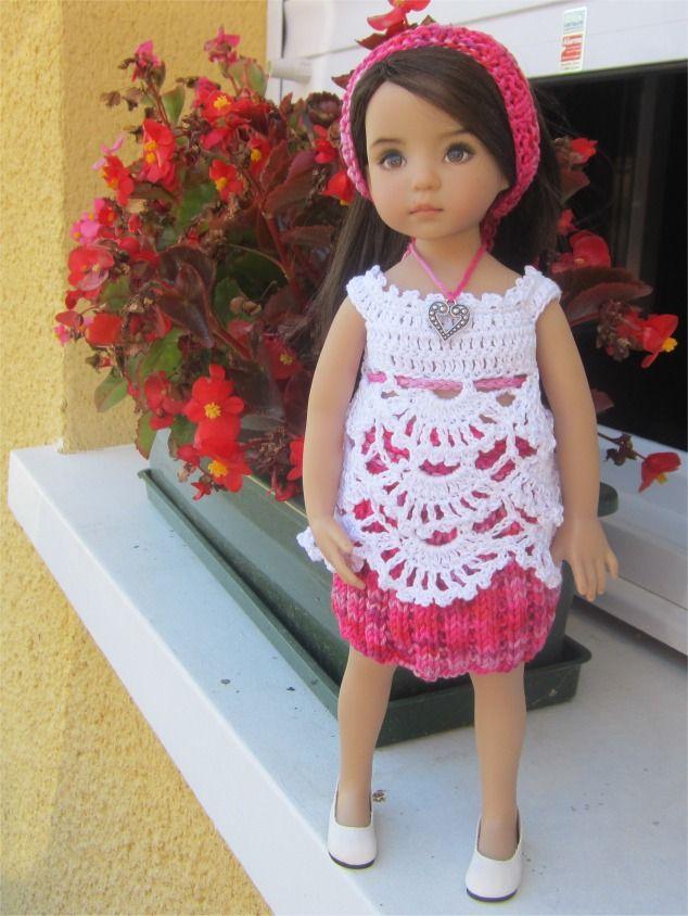 40- FICHE PATRON Bégonia : jupe, tunique et bandeau pour poupée Little Darling, Paola Reina, Chérie : Jeux, jouets par atelier-crochet