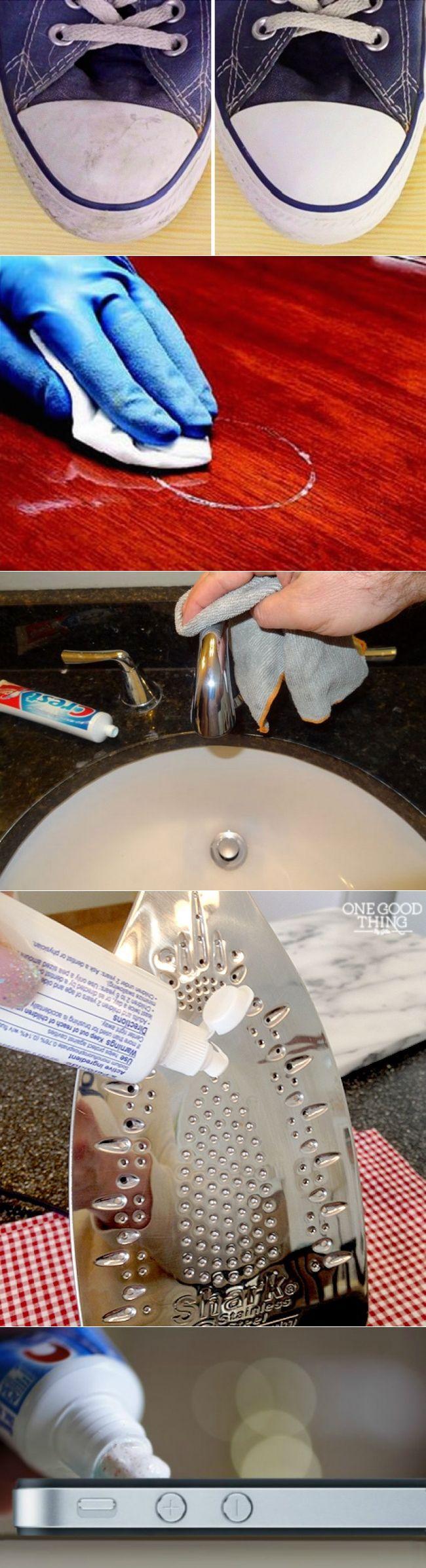 12 неожиданных способов использовать зубную пасту