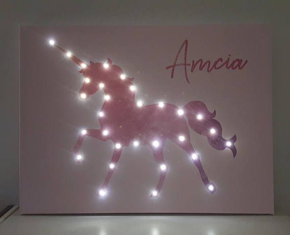 Check out this item in my Etsy shop https://www.etsy.com/listing/558109940/light-up-unicorn-unicorn-wall-art-gift