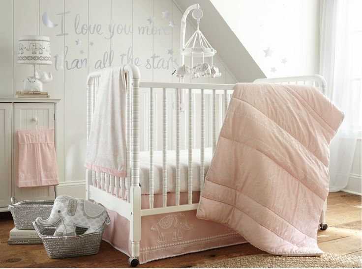 Levtex Baby Baby Ely Pink 5 Piece Crib Bedding Set Dust