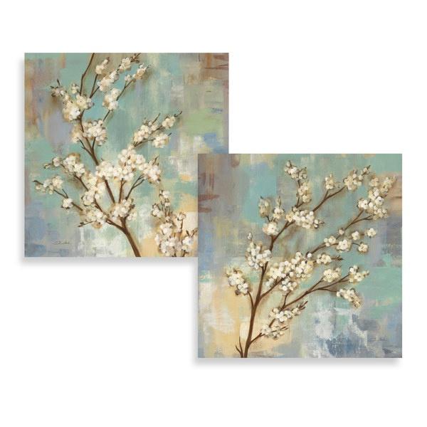 kyoto blossoms wall art set of 2 bed bath beyond. Black Bedroom Furniture Sets. Home Design Ideas