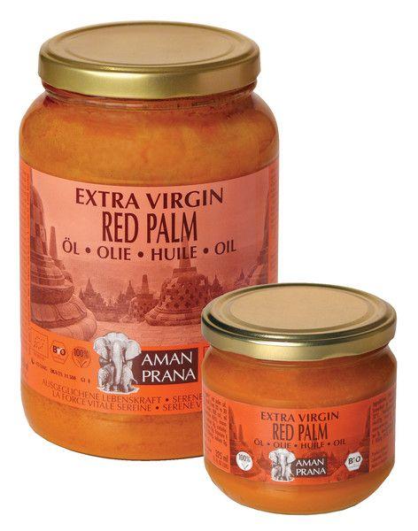 L'huile de palme rouge biologique, riche en carotènes, vit E, Amanprana