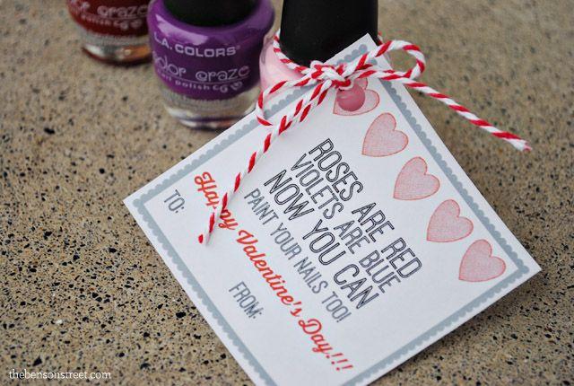 Nail Polish Valentine Gift Tag – Chelsea Heishman