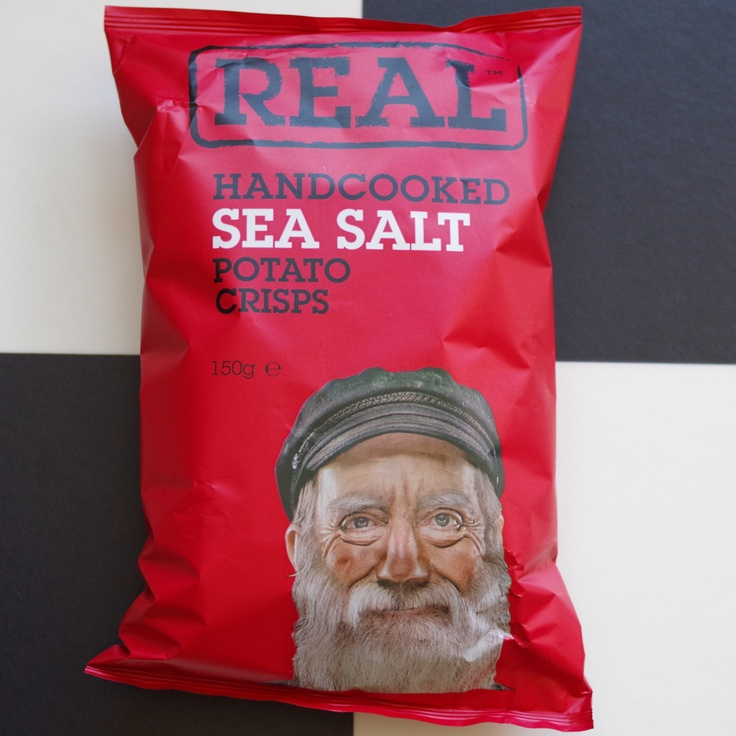 REAL Handcooked Sea Salt Crisps