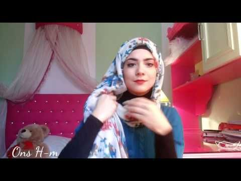 Hijab tutorial for Glasses - YouTube