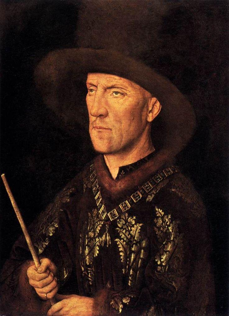 Jan van Eyck, Ritratto di Baudouin de Lannoy, 1436-1438 ca. Olio su tavola. Berlino, Gemäldegalerie.