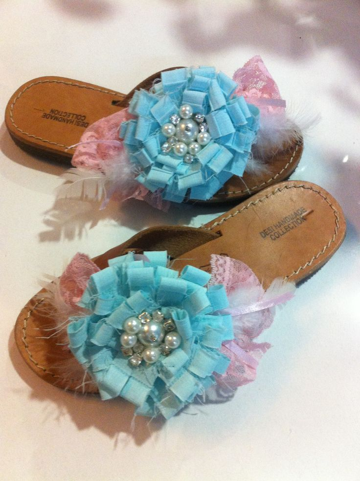 Handmade decorated sandals for kids!
