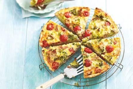 Broccoli tuna pie, slim