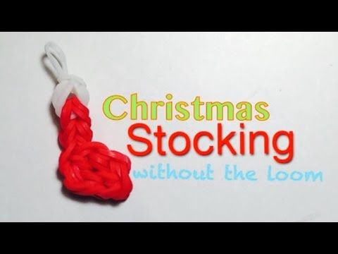 Candy Cane for Christmas Loom Band Charm Without the Rainbow Loom - YouTube