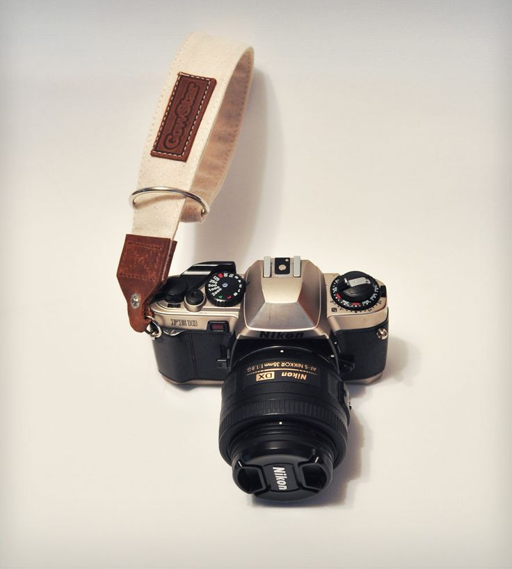 Leather & Canvas Camera Wrist Strap   Gear & Gadgets Camera   GowStar   Scoutmob Shoppe   Product Detail