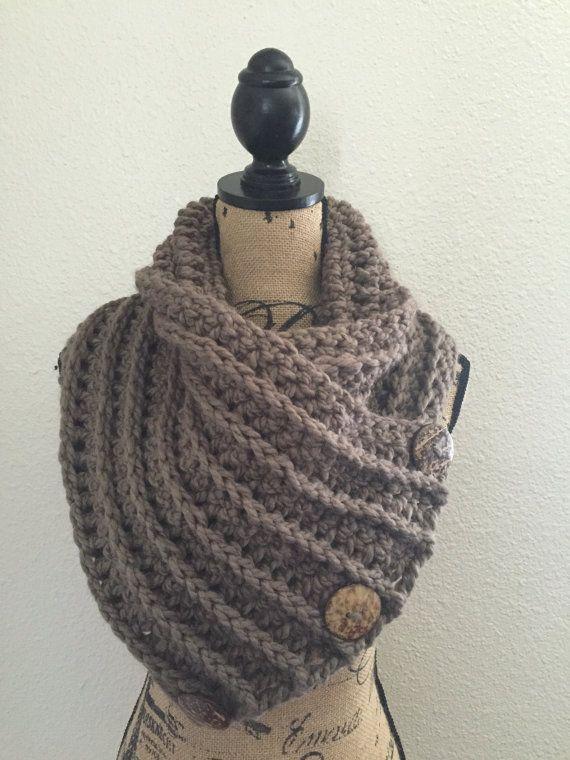 Klobige gehäkelter Schal mit Tasten klobige Schal Schal