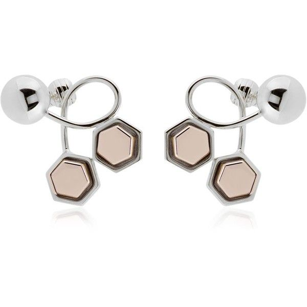 Giuliana Mancinelli Women Route 66 Studs & Spheres Earrings ($305) ❤ liked on Polyvore featuring jewelry, earrings, palladium, clip on stud earrings, post earrings, clip earrings, clip post earrings and studded jewelry