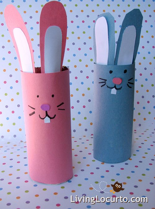 Paper Easter Bunnies