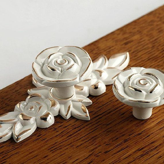 Shabby Chic Dresser Drawer Knobs Pulls Handles by JackAccessories